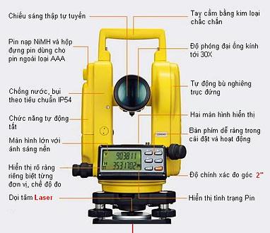 cách-đo-máy-kinh-vĩ-điện-tử